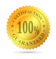 Gold Badge Satisfaction Guarantee vector image vector image