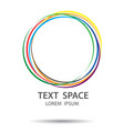 colorful abstract logo design on white background vector image vector image
