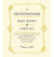 Classic wedding invitations vector image vector image