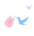 Flying hummingbird vector image vector image