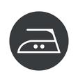 Monochrome round ironing icon vector image