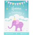 Kids Birthday Party Invitation with Garlands vector image