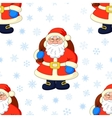 Seamless background Santa Claus and snowflakes vector image vector image