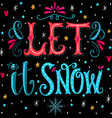 Christmas retro poster with hand lettering vector image