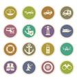 coast guard icons set vector image