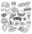 Collection of food vector image