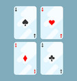 deck of cards all aces on vector image