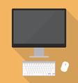 Desktop computer flat style vector image