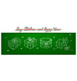 hand drawn of beautiful gift boxes with ribbons vector image