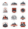 mountain silhouette travel logo badge vector image