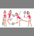 professional tennis player summer sport vector image