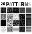 Set of 20 Various Abstract Patterns vector image