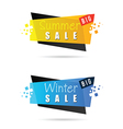 summer and winter sale tag icon in colorful vector image