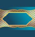 Thai frame luxury design background vector image