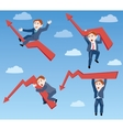 businessman the ups and downs of affairs vector image