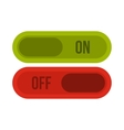 Button on and off icon flat style vector image
