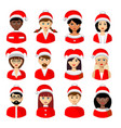 christmas people avatars vector image