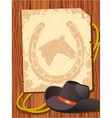 cowboy elements hat vector image