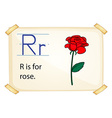 A letter R for rose vector image