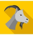 Head of goat icon flat style vector image