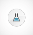 laboratory icon 2 colored vector image