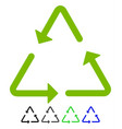 recycling triangle flat icon vector image