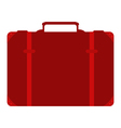 suitcase on white background vector image