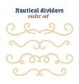 Nautical ropes Dividers set Decorative vector image
