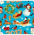 Christmas holidays seamless pattern background vector image vector image