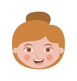 front face woman with collected hair vector image