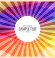 abstract colorful background with transparent rays vector image