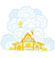 snow-covered small hut vector image