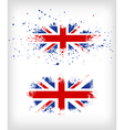 Grunge British ink splattered flag vector image