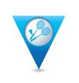 badminton BLUE triangular map pointer vector image vector image
