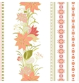 Striped seamless pattern Floral wallpaper vector image vector image