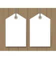 Blank sale tags mock up vector image
