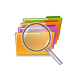 folder search vector image