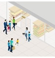 Supermarket Isometric vector image