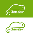 Image of chameleon design on white background and vector image