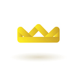 Crown king logo symbol icon vector image