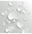 Abstract background with playing cards elements vector image