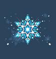 abstract snowlflake flat design vector image