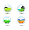 business design landscape elements icon set for vector image