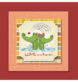 Crocodiles in loveValentines day card vector image