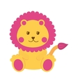 cute lion isolated icon vector image