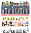 Different city elements for creating your own map vector image