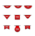 free advertising badges vector image