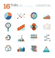 Modern thin line flat icons collection in vector image
