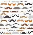 mustache beard face haircut silhouette vector image