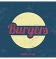 Retro Food Sign Vintage Background vector image